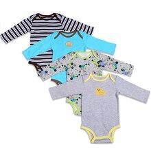 345PCS Cartoon Style Baby Girl Boy Winter Clothes Newborn Infant Body Bebes Baby Jumpsuit Ropa Next  Long Sleeve Baby Bodysuit