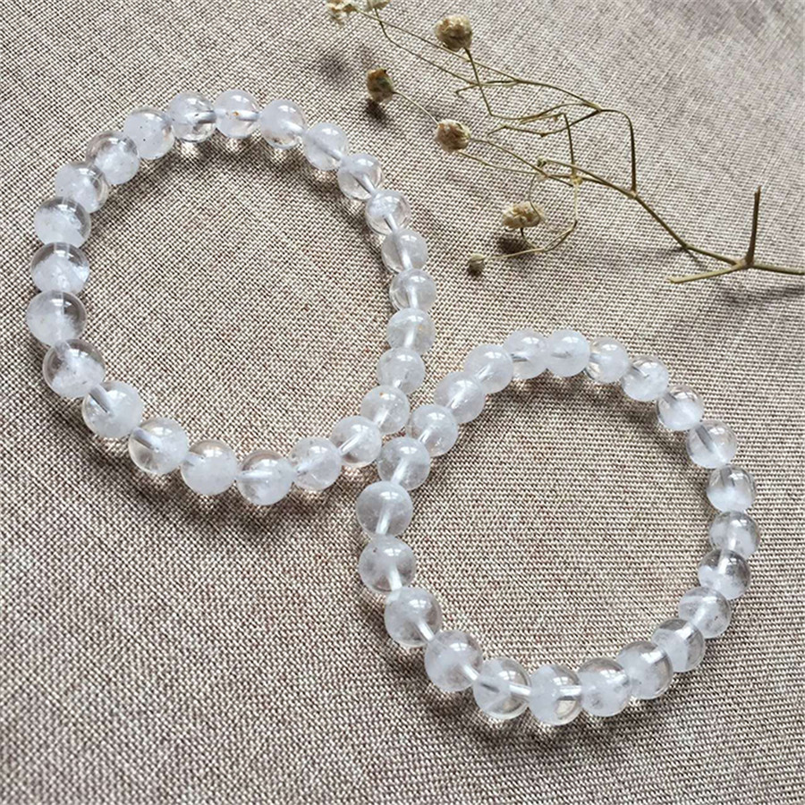 2018 New Arrival Genuine  Natural White Phantom Quartz Crystal Round Beads Bracelet AAAA 8mm Drop Shipping Crystal Stone Beads2018 New Arrival Genuine  Natural White Phantom Quartz Crystal Round Beads Bracelet AAAA 8mm Drop Shipping Crystal Stone Beads