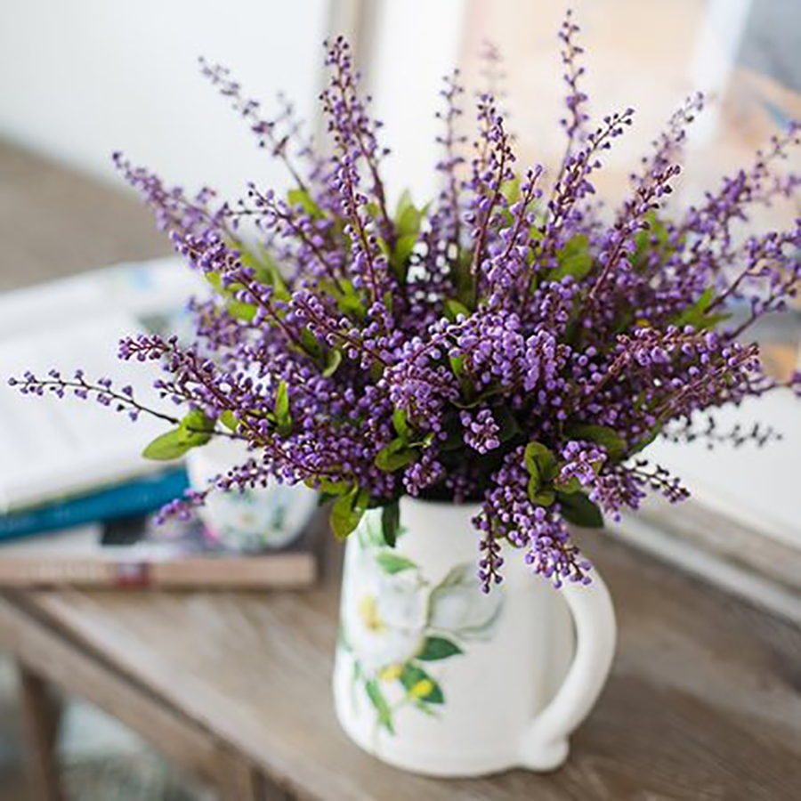 Decoration Artificial Flower Wedding Dried Lavender Home Decor Pompom Silk Display Valentine Fake Flowers Plastic Qqc99 In