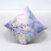 New Vintage 45cm X45 Cm Decorative Cushion Cover 3d Printing Blue Stars Flowers Sofa Throw Pillow