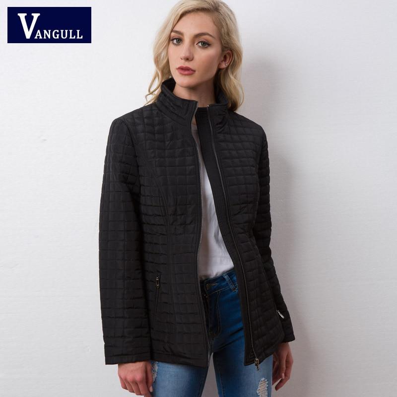 Vangull Winter Jacket Women 2018 New High Quality Spring Autumn Women Long Sleeve Warm Cotton Coat Female Parka Outwear Parkas