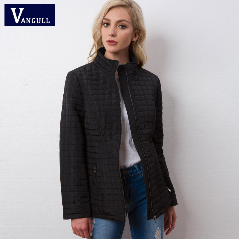 Vangull Winter Jacket Women 2018 new High Quality Spring Autumn women Long sleeve warm Cotton coat Female   Parka   outwear   Parkas