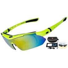 Professional Cycling Eyewear UV400 Polarized Cycling Glasses Bike Bicycle Glasses Sunglasses Gafas Cicismo Goggles 5 Lens
