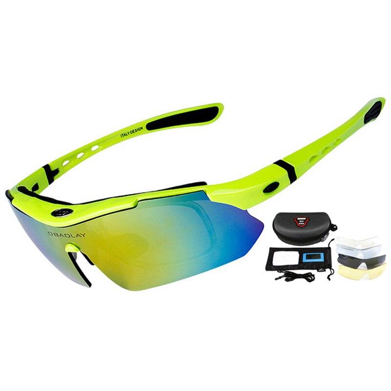 Professionelle Radfahren Brillen UV400 Polarisierte Radfahren Gläser Fahrrad Brillen Sonnenbrille Gafas Cicismo Brille 5 Objektiv