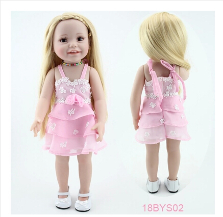 Hot sale 2017 american 18 inch girl doll smiling Full Vinyl Kid Toys Handmade Hobbies Realistic Standing Baby Alive Doll new arrived handmade american 18 inch girl doll vinyl princess smiling girls looks so pretty baby doll toys for children