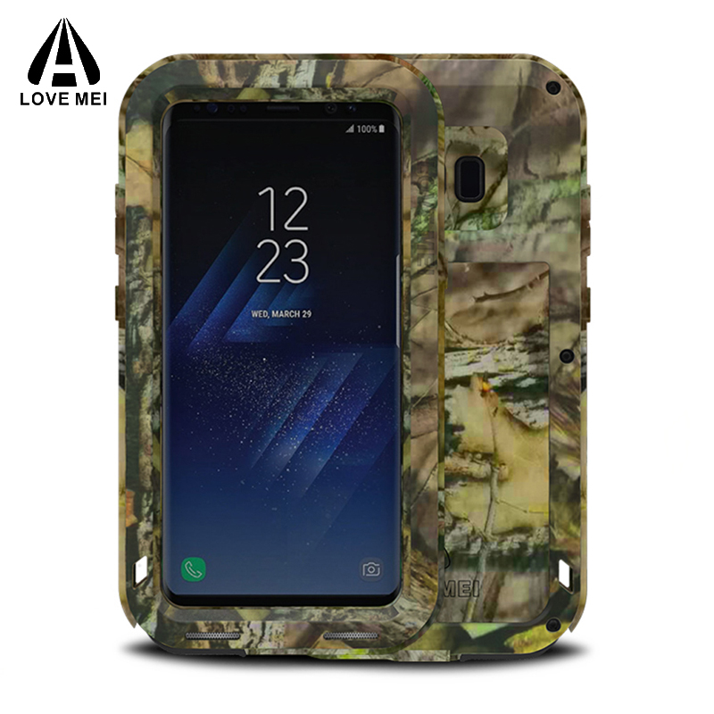 Love mei Case FOR Samsung font b S8 b font Case CAMO Shockproof camouflage Metal Cover