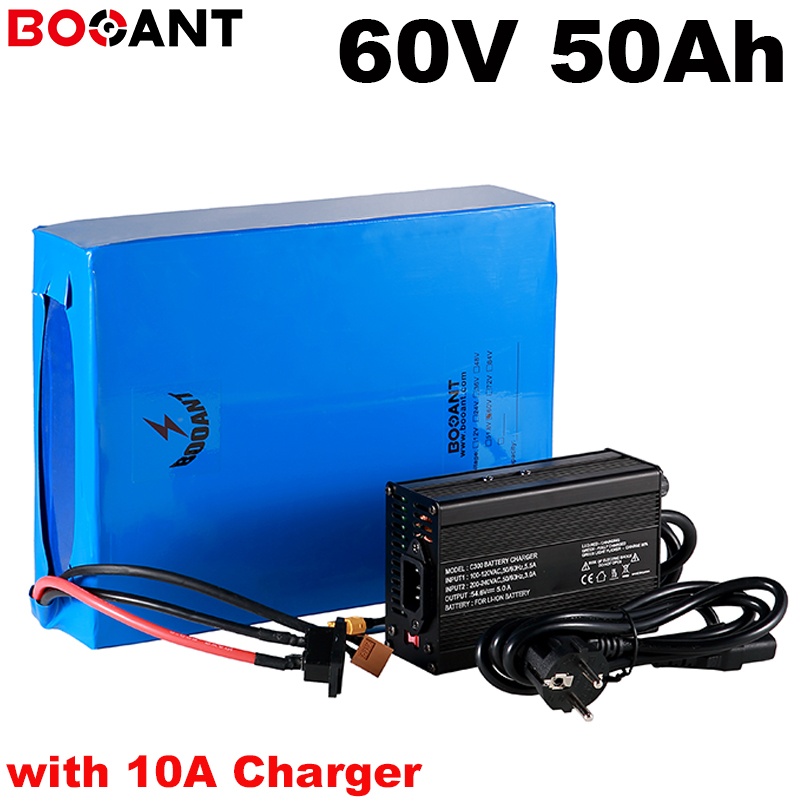 60V 50Ah 5000W lithium battery for Samsung 35E 18650 cell 16S 60V 3000W electric bike battery built in 120Amps BMS +10A Charger