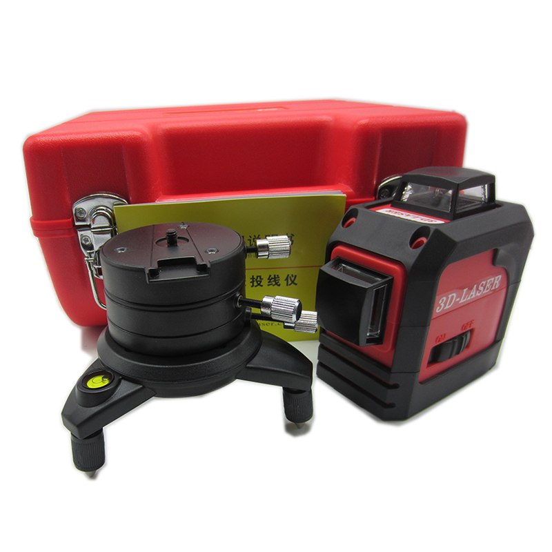 12Lines 3D 93T Laser Level Self-Leveling 360 Horizontal And Vertical Cross Super Powerful Red Laser Beam Line fukuda mw 99t 12lines 3d laser level self leveling 360 horizontal and vertical cross super powerful red laser beam line