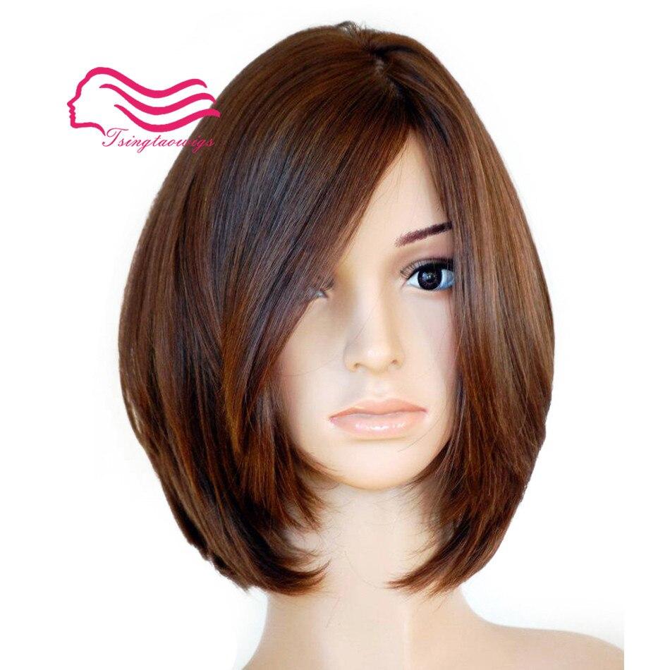 100% Não Transformados cabelo virgem Europeia, em linha reta com o corpo, Bob peruca judaica, peruca Melhor Sheitels kosher frete grátis
