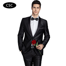Shawl Collar Suit Men Groom Wedding Suit Men Fashion Tuxedo Slim Fit Dress Suit 2 Pieces(Jacket+Pants) Latest Coat Pant Designs