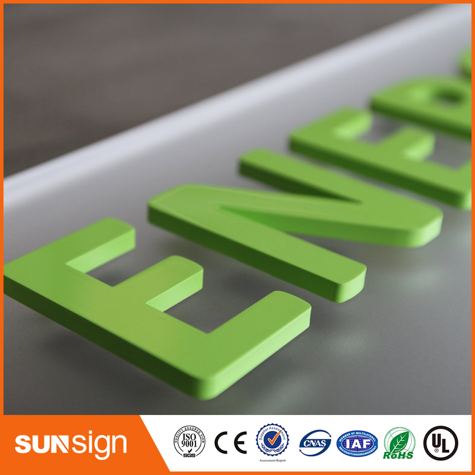 Wholesale Adhesive Acrylic Flat Cut Letters With Painted Color Custom Your Own Deisgn Logo