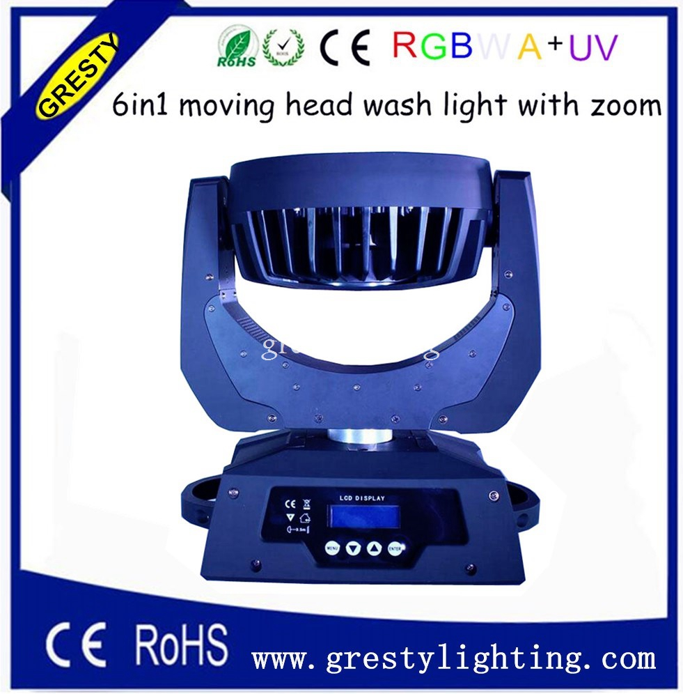 2 հատ / լոտ 36 հատ * 18W 6 in1 RGBWAUV խոշորացում - Կոմերցիոն լուսավորություն - Լուսանկար 2