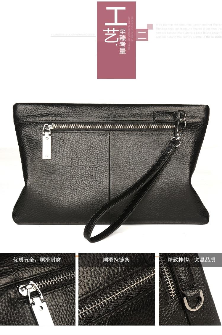 Men's Accessories Men Clutch Bag Envelope Fashion Soft Small Business Zipper Wallet Canvas Handbag