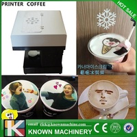 The 11*11cm Selfie latt coffee printer from China Flatbed printer manufacture, High resolution coffee printer for sale free ship