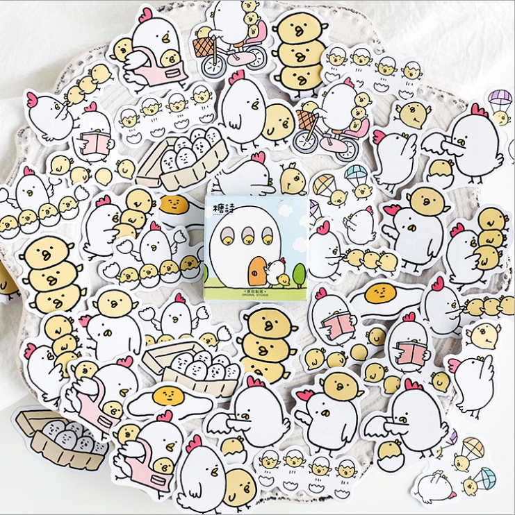 Happy Chicken Diy Decorative Stationary Stickers(1pack=45pieces)