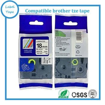 Factory supply 100pcs/lot  Brother TZ label tape 18mm black on white tze tape tze-241 tze 241 tz-241 for P-touch printer