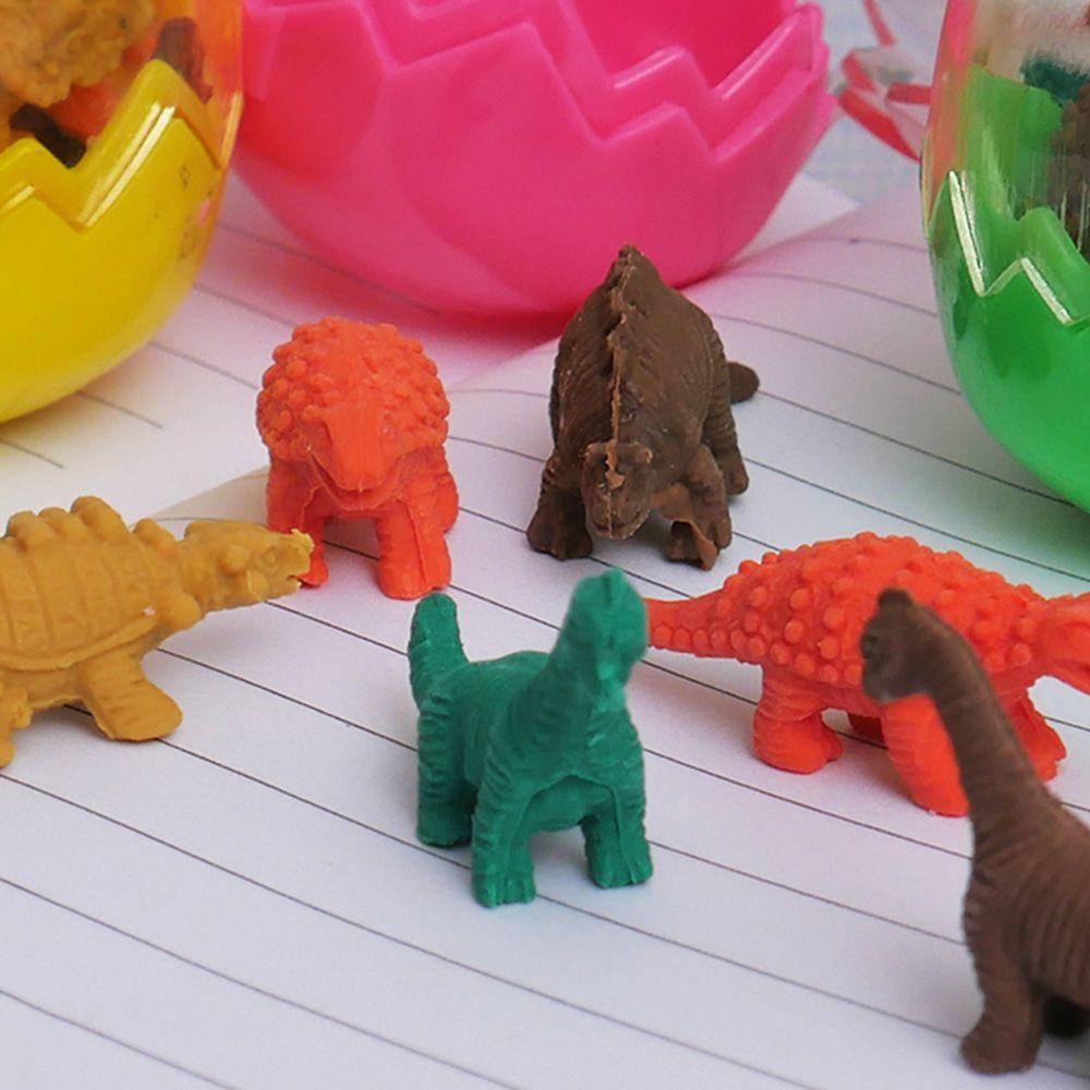 8 pcs//lot Mini Cute Kawaii TPR Eraser Creative Dinosaur Eraser For Kids Gift Korean Stationery