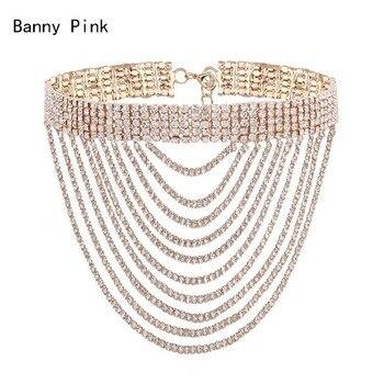 b16a1564b75e Nueva moda Collar de cadena larga de acrílico de declaración Collar de  Gargantilla grande grueso para mujeres Bijoux joyería de moda ZA 2019