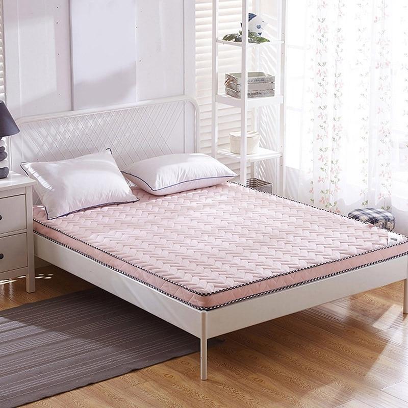 Newest Mattress Folding Sleeping Pad Home Thicken Cushion Mat Comfort Bedding Durable Bedroom Sleeping Cushion Home Furniture цена и фото