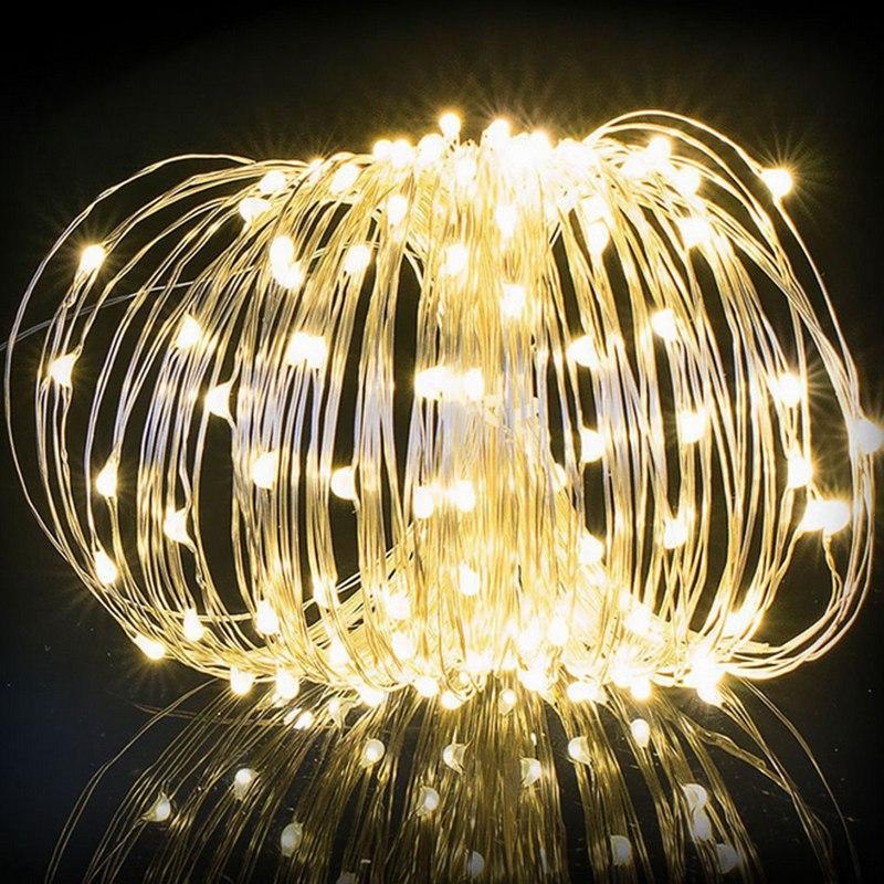 20M 200 LED Copper Wire Solar Power LED String Light LED Fairy Light Christmas Party Wedding Holiday Light Lamp DC24V