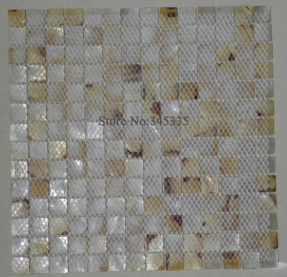 Yellow lip shell mosaic tiles mother of pearl kitchen bathroom yellow lip shell mosaic tiles mother of pearl kitchen bathroom backsplash wall paper mosaics tile luster decoration hotel bar in wallpapers from home dailygadgetfo Images