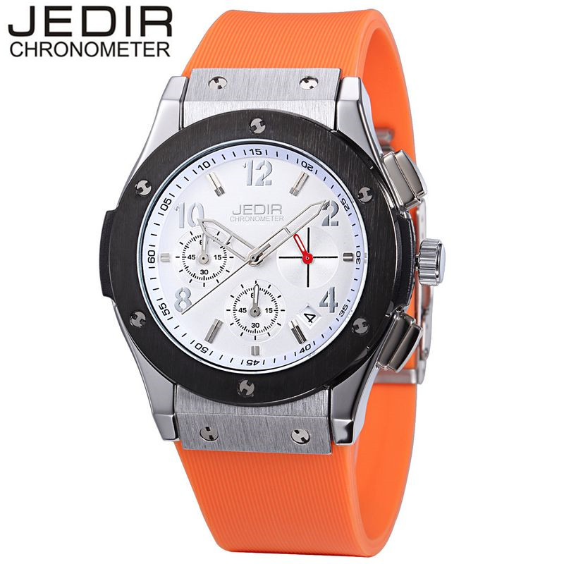 JEDIR Casual Men's Mult-function Sport Watch Silicone Watch Top Brand Military Watch Relogio Masculino Gift Box Free Ship the collected short stories of louis l amour