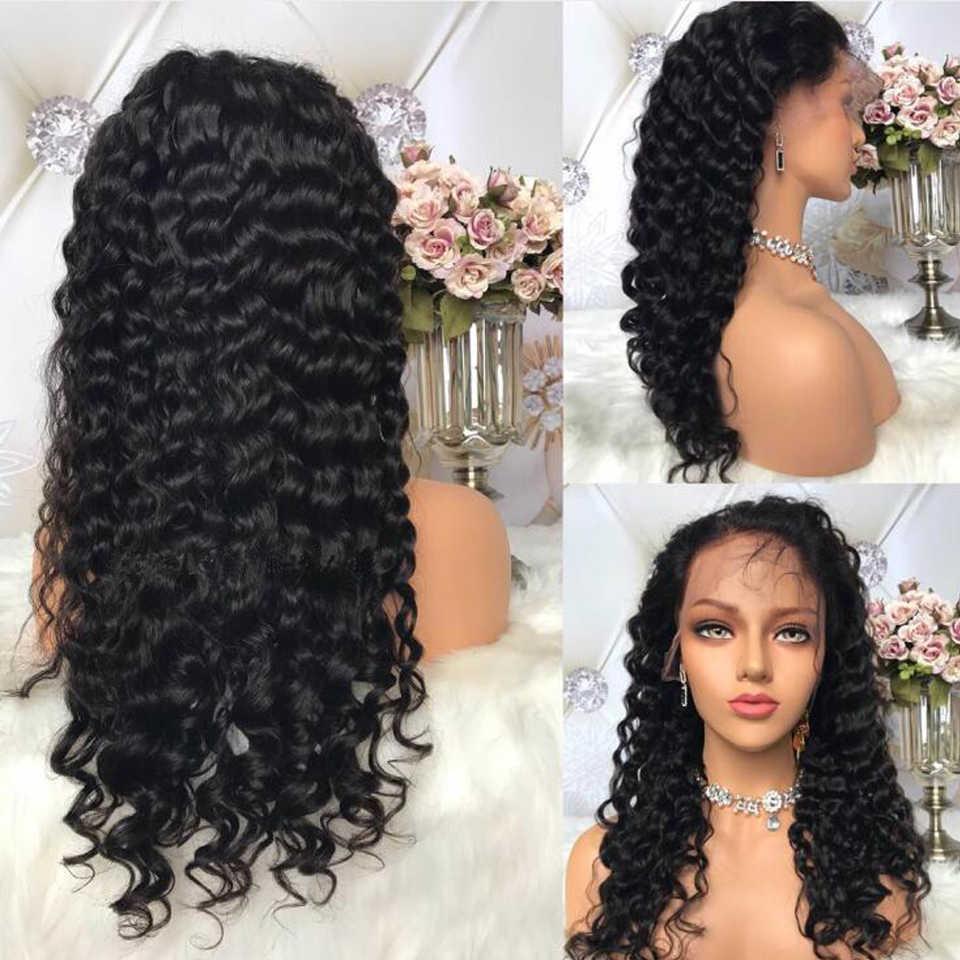Braziliaanse Diepe Golf 13x4 Lace Front Menselijk Haar Pruiken Remy Haar Pre Geplukt Haarlijn met Baby Haar voor Zwarte Vrouwen