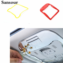 Sansour ABS Interior Mouldings Chrome Front Reading Lamp Cover Read Light Decoration Cover for Jeep Renegade 2015 up