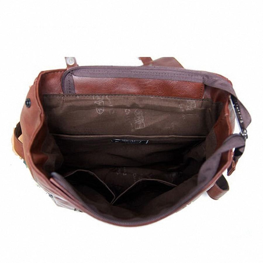 Vintage PU Leather Men Leisure Backpacks Preppy Стиль Mochila - Рюкзактар - фото 5