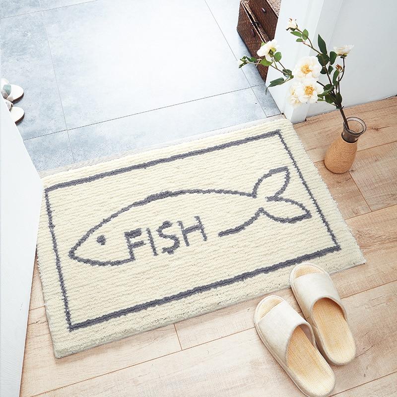Cat Fish Dog Entrance Mat Waterproof Anti-Slip Doormat Carpets Bedroom Rugs Decorative Stair Mats Home Decor 45*65cm,50*80cm,