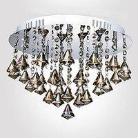 Lustre, moderne LED Crystal Plafondlamp Met 5 Lampen Woonkamer Thuis Decoratie Lustres de Sala Gratis Verzending