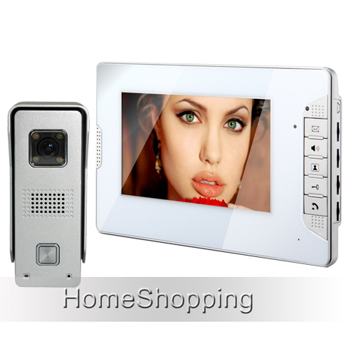 Brand New Home Security Wired 7 inch Color Video Door Phone Intercom System Waterproof Doorbell Camera In Stock FREE SHIPPING free shipping wired home security 7 inch color video intercom door phone system 2 monitor 1 doorbell camera in stock wholesale