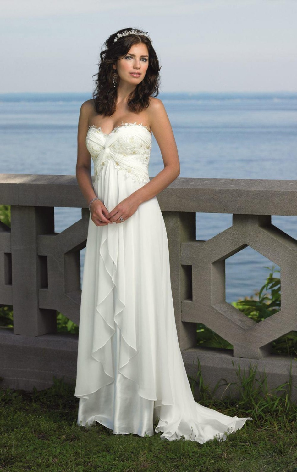 White Beach Wedding Dresses
