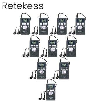 10 шт. RETEKESS PR13 радио FM стерео DSP портативный приемник цифровые часы для экскурсовода встречи синхронного перевода