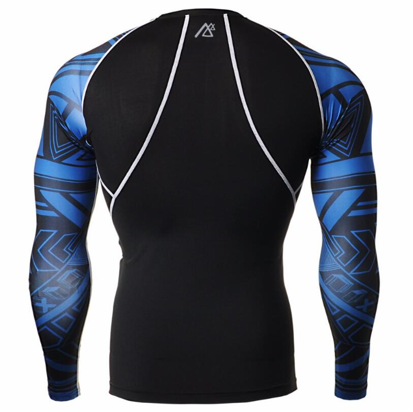 MMA Men's Compression Run jogging Suits Clothes Sports Set shirt And Pants Gym Fitness workout Tights clothing high quality - 3