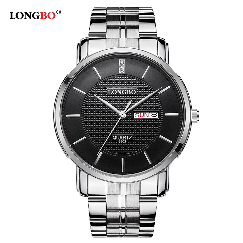 LONGBO Brand 2016 New Luxury Women Watch Full Steel Watch Double Calendar High Quality Ladies Business