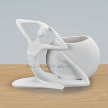 perfect art pottery ceramics vase Abstract Art Character white vases Home Decor flower pot