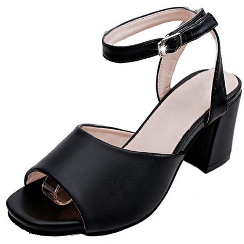Новые сандалии женские толстые на Высоком каблуке лето водонепроницаемый машина, дном обувь большой ярдов сексуальная рыба рот обувь белые туфли