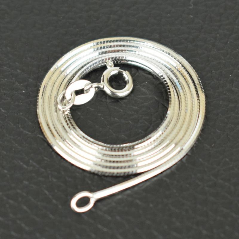 Pure 925 Sterling Silver Italy markalı İncə İncə 0.65 mm ölçülü ilan zənciri boyunbağı Qadın Qızlar üçün Moda Zərgərlik