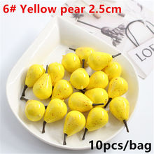 10 pcs Artificial Realistic Simulation False Pear Fruit Home Decoration 1 order