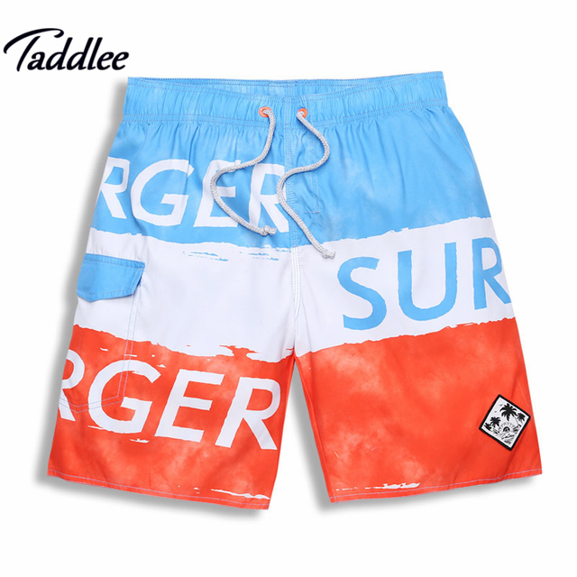 Taddlee Brand Sexy Mens Beach Board Shorts Boxer Trunks Man Swimwear Swimsuits Active Cargos Quick Drying Men Bermudas Size XXXL