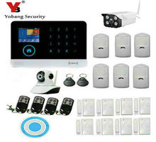 YobangSecurity WiFi GSM GPRS Alarm System IOS Android APP Control Home Security Alarm System With Wifi Outdoor Indoor IP Camera