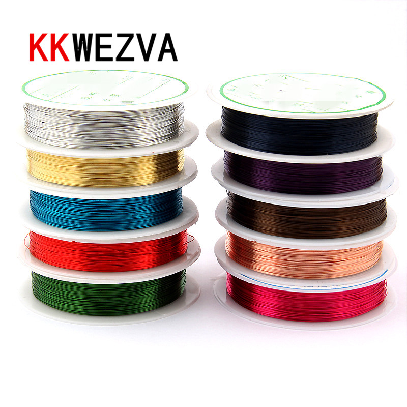KKWEZVA 10 Colors Mixed diameter 0.3mm Copper wire/ Fly Fishing lure bait making material Midge Larve Nymph Fly Tying Material