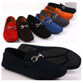 US5-10 Нубук Кожа Повседневная СКОЛЬЖЕНИЯ НА пряжки loafer мода мужчины Езды Автомобилей обувь