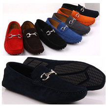 US5-10 Nubuck Leather Casual SLIP-ON buckle loafer fashion men Drive Car shoes