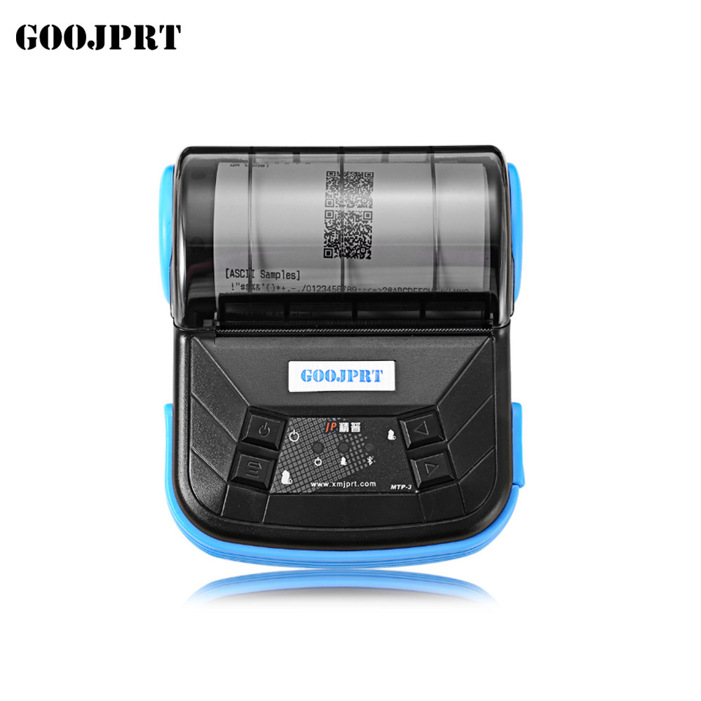 80mm Mini Wireless Bluetooth Android Portable Mobile Thermal Receipt Printer  For Windows Andriod IOS