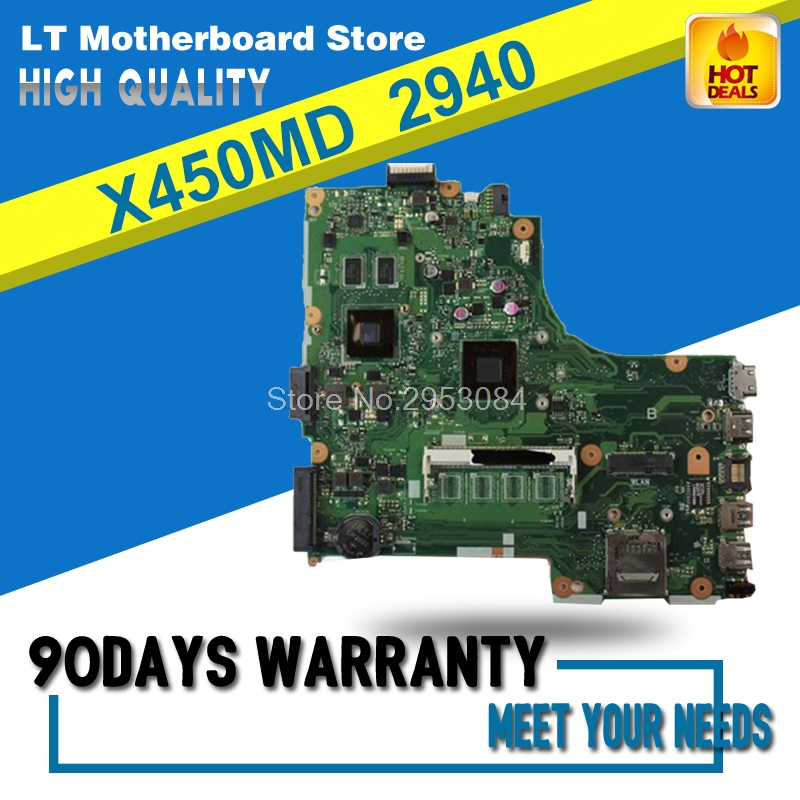 X450MD Laptop Motherboard For Asus X450M X452M With N2940 CPU MOTHERBOARD Mainboard REV2.0 100% Tested Well S-4X450MD Laptop Motherboard For Asus X450M X452M With N2940 CPU MOTHERBOARD Mainboard REV2.0 100% Tested Well S-4