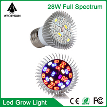 1pcs Led Grow Light E27 28W Full Spectrum Led Grow Lighting Lamp For Hydroponics Greenhouse Grow Tent aquarium led lighting
