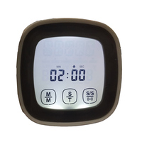 Free Shipping Large LCD Screen Digital Kitchen Timer Electronic Touch Screen Cooking Timer