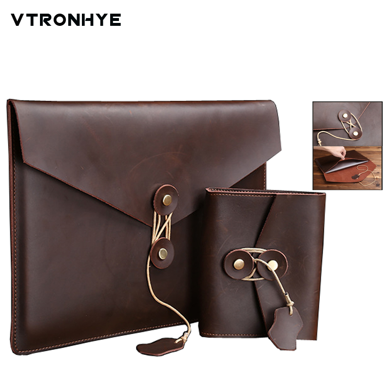 Leather Laptop Bag 15 Inch for Macbook Air 11 13 Pro 13 15 Retina Cover Case Slim Laptop Sleeve Pouch for Macbook 13 15 Pro 2016 new notebook case bag for macbook air 13 pro 15 case retina 13 3 15 4 cover women men laptop bag 13 15 inch with power bag